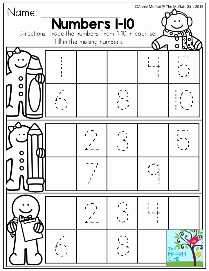 Ten Frame Worksheets Kindergarten Numbers 1 Trace the and Fill In Missing for Each Tens Frame