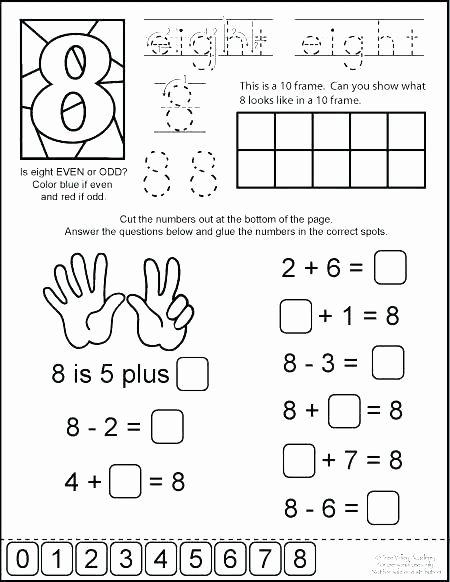 Ten Frame Worksheets Kindergarten Odd or even Worksheets