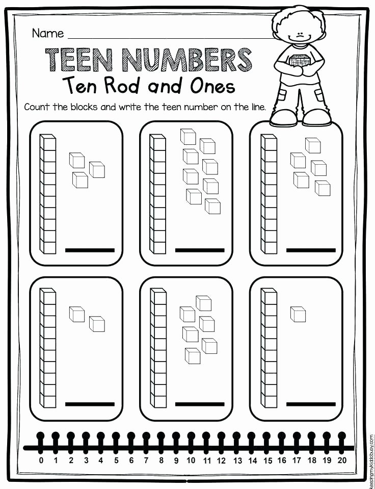 Ten Frame Worksheets Kindergarten Teen Numbers Worksheets Free Download Ten Frames Freebie