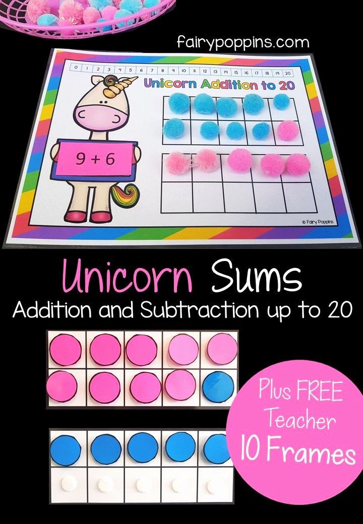 Ten Frames Worksheets Addition and Subtraction with Ten Frames