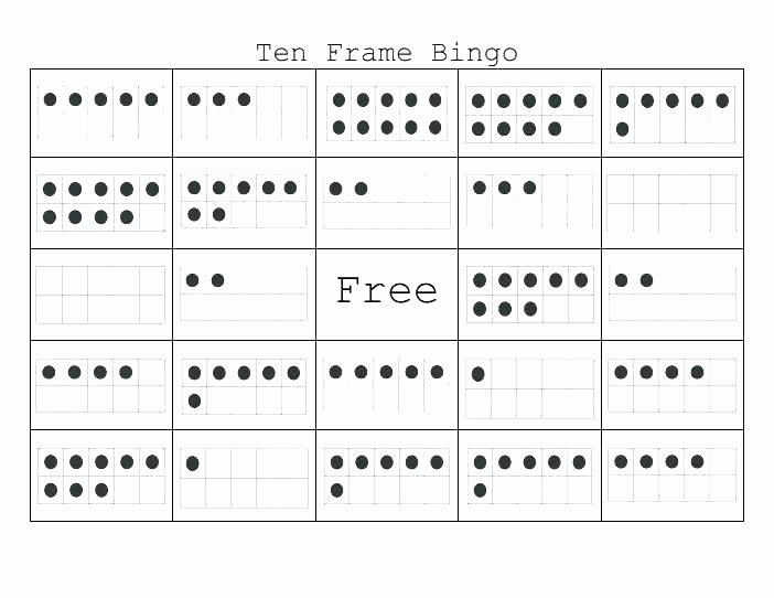 Ten Frames Worksheets Domino Math Worksheets First Grade Facts Worksheet Ten Frame 1st
