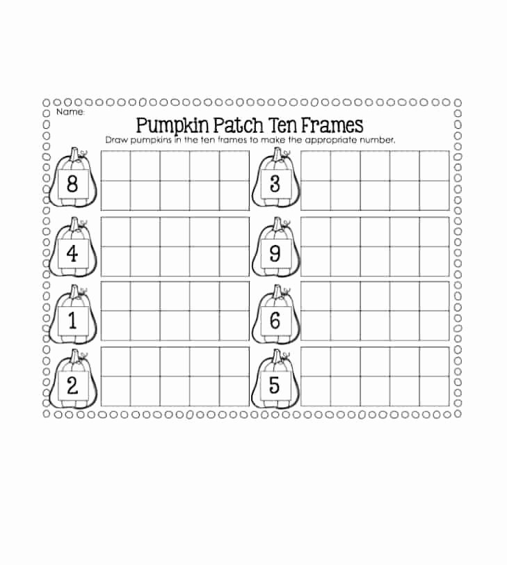 Ten Frames Worksheets Free Ten Frame Template Friends Worksheets – Tusfacturas