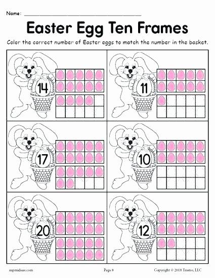 Ten Frames Worksheets Grade Worksheets Free Ten Frame for First Double Worksheet