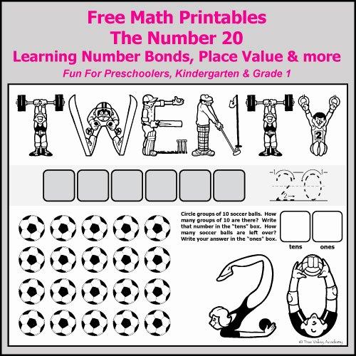 Ten Frames Worksheets Number Bonds to 20 Free Math Worksheets