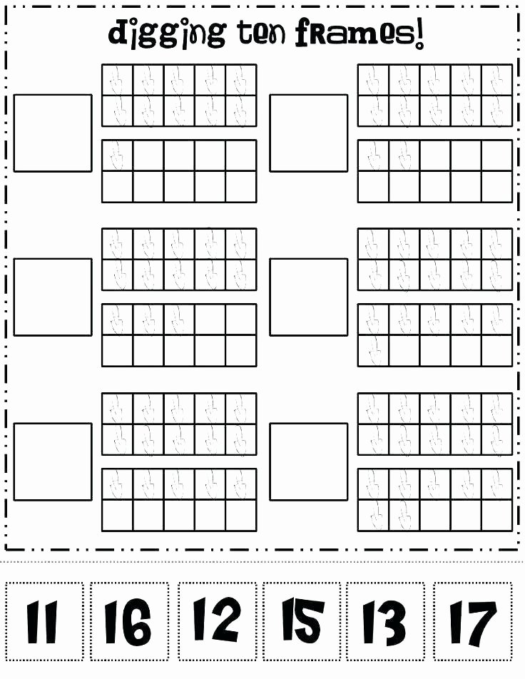 Ten Frames Worksheets Printable Picture Frame – Reelradiofo