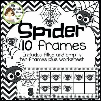 Ten Frames Worksheets Spider Math Worksheets Kindergarten Ten Frames Includes