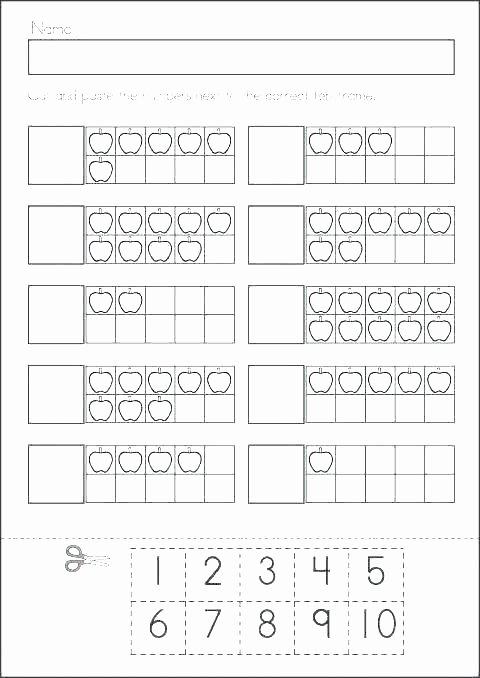 Ten Frames Worksheets Ten Frame Addition Worksheets for Kindergarten