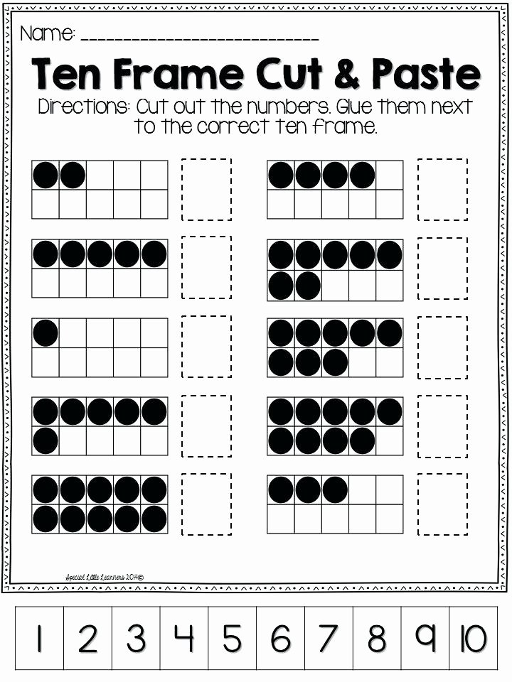 Ten Frames Worksheets What Does Tens Mean Math Place Value Tens and Es Cut and