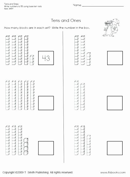 snapshot image of tens and ones worksheet 1 counting by worksheets for kindergarten frame ten pdf