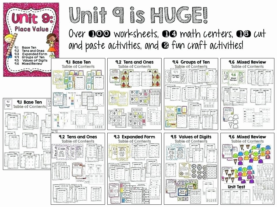 Tens and Ones Worksheets Kindergarten Snapshot Image Tens and Es Worksheet 1 Base Ten