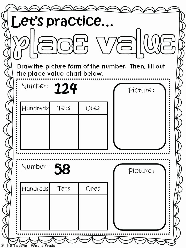 Tens and Ones Worksheets Kindergarten Tens and Ones Worksheets