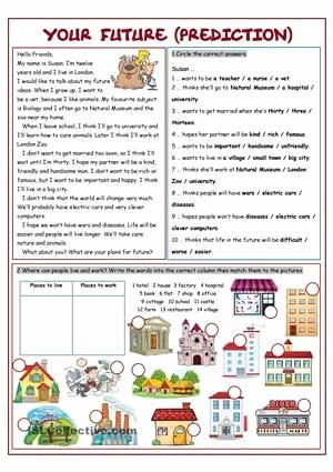 Tense Agreement Worksheet New Future Simple Exercises Will and Going to