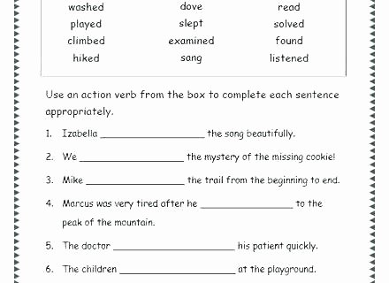 Tenses Worksheets for Grade 5 Free Verb Worksheets