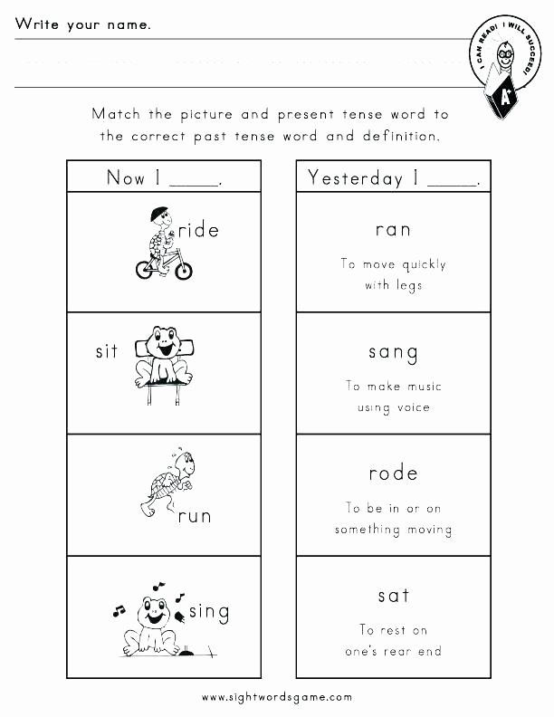 Tenses Worksheets for Grade 5 Irar Verbs Worksheet 4 Simple Present Tense Worksheets