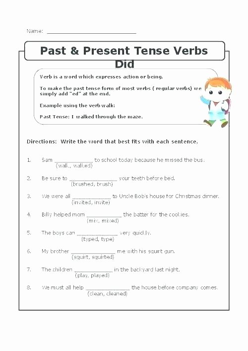 Tenses Worksheets for Grade 5 Subject Verb Agreement Worksheets Grade 2 – Primalvape