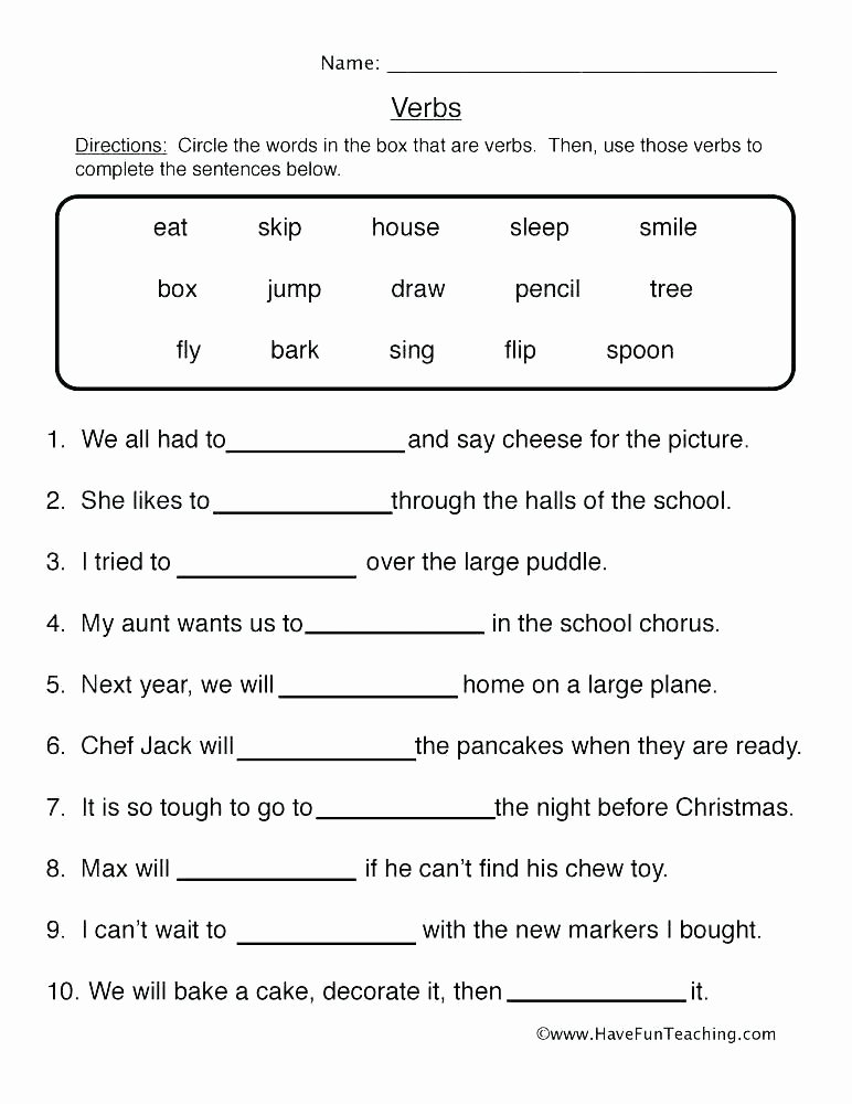 Tenses Worksheets for Grade 6 Grammar Tenses Worksheets Full Size Grammar Worksheets