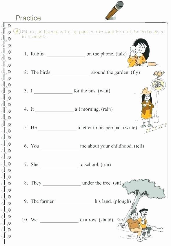 Tenses Worksheets for Grade 6 Past Tense Worksheets for Grade 4