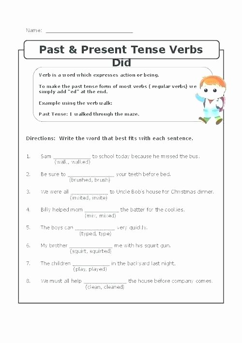 Tenses Worksheets for Grade 6 Tenses Worksheets for Grade 8 Amazing Simple Past Tense