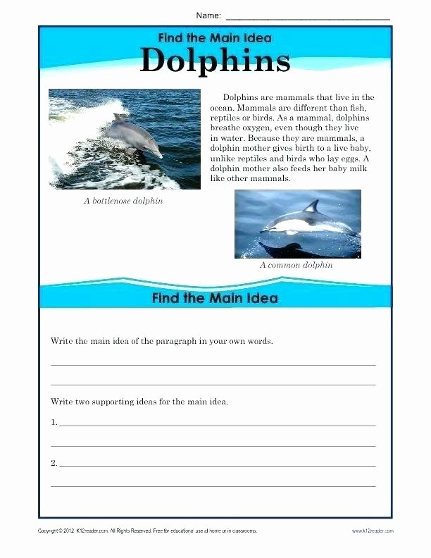 Text Evidence Worksheets 3rd Grade Support Main Idea with Textual Evidence Finding the