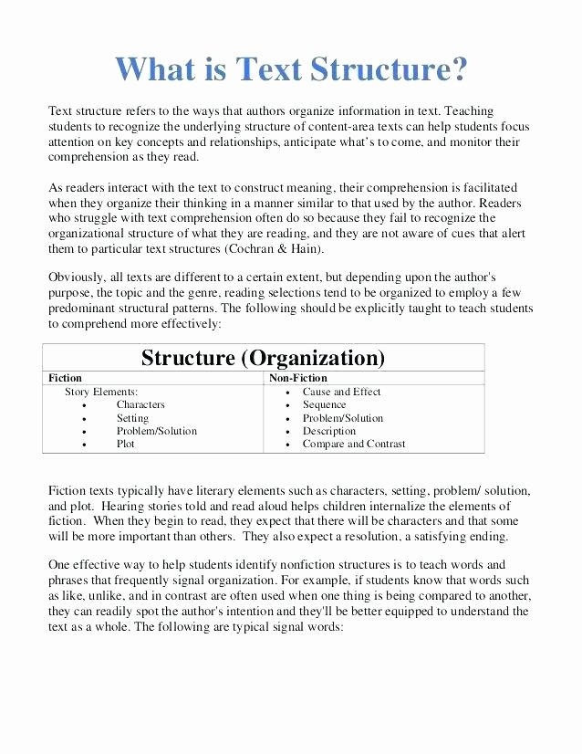 Text Structure 3rd Grade Worksheets Identifying Text Structure Worksheets Identify for Primary 1
