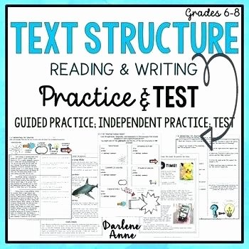 Text Structure 4th Grade Worksheets Text Structure Practice Worksheets