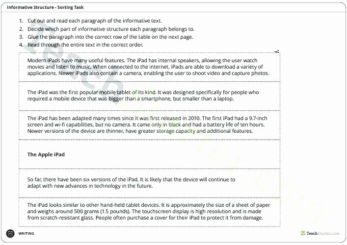 Text Structure 5th Grade Worksheets Summarizing and Text Structure Worksheet for Grade