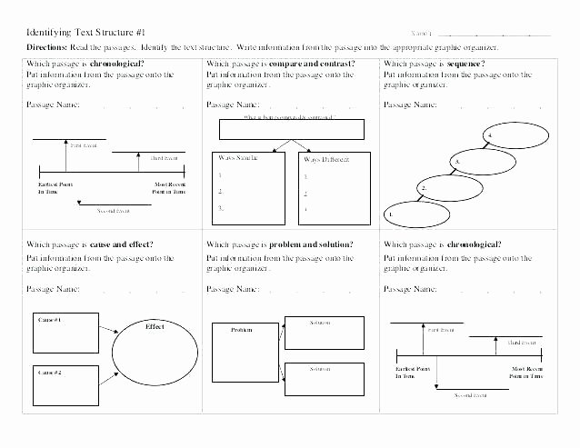 Text Structure 5th Grade Worksheets Text Structure Worksheets Grade Problem and solution