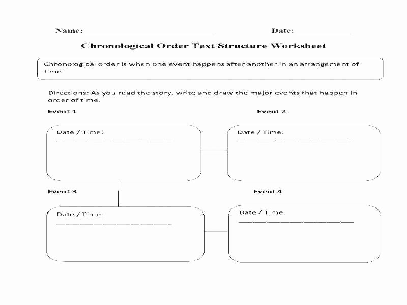 Text Structure Worksheets Grade 4 Chronology Worksheets – Sunriseengineers