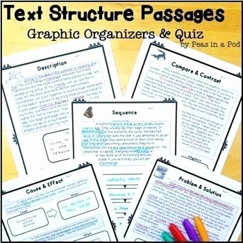 Text Structure Worksheets Grade 4 Fact Pare and Contrast Graphic organizer Text Structure