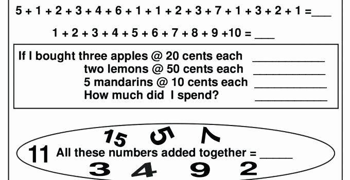 Thanksgiving Algebra Worksheets Elementary Math Worksheets Learning Printable Simple to
