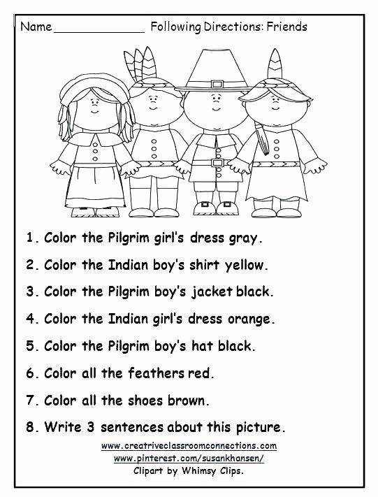 Thanksgiving Comprehension Worksheets Free First Grade Reading Worksheets