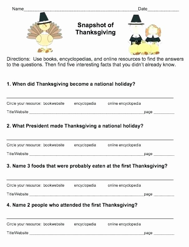 Thanksgiving Comprehension Worksheets Writing Worksheets for Second Grade – Openlayers