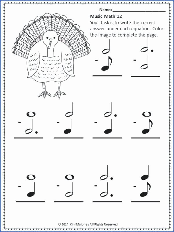 Thanksgiving Math Worksheets Middle School Luxury Thanksgiving Math Worksheets Music theory Printable