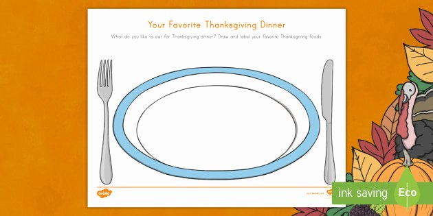 us t your favorite thanksgiving dinner draw and write activity sheet ver 1