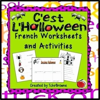 The Clever Factory Worksheets Halloween Activities Worksheets French and Esl by