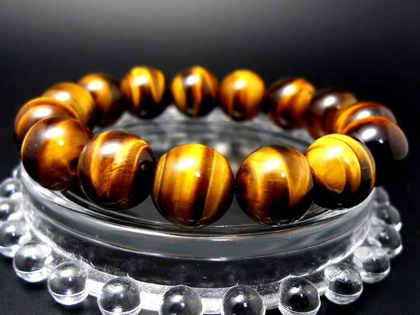 The Egypt Game Test Good Luck Charm Luck with Money Work Luck Game Luck Yellow Thailand for the Aaa Tiger Eye Bracelet 14mm Power Stone Bracelet Men Nature Loadage In