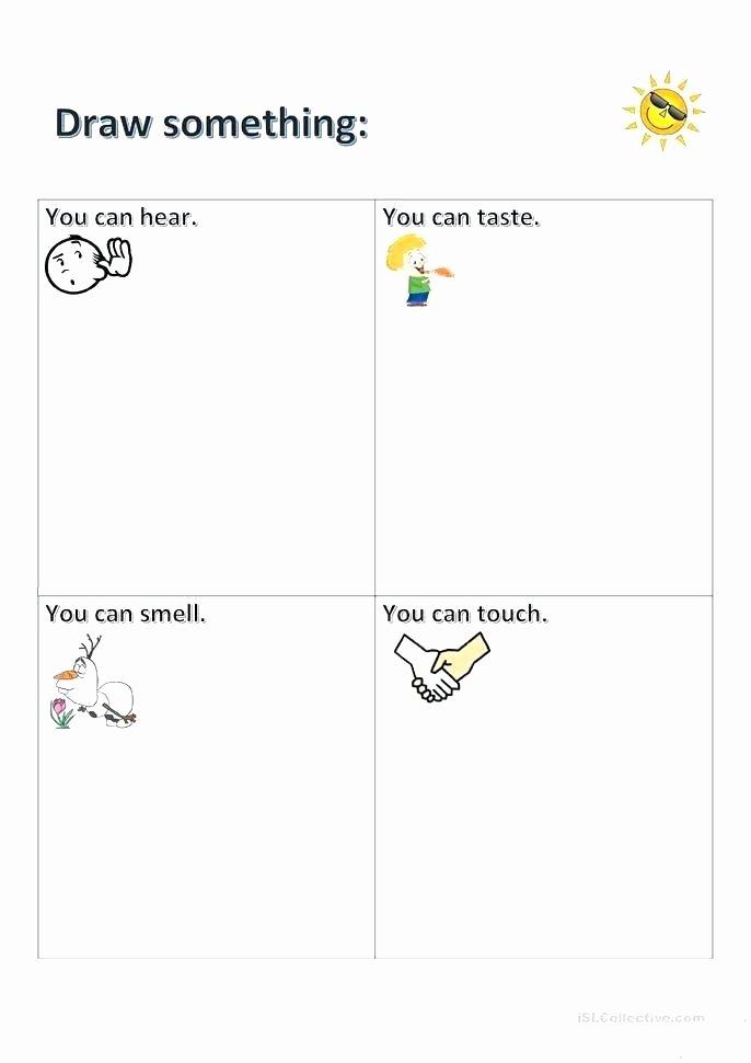 The Five Senses Worksheets Five Senses Worksheets for Kindergarten