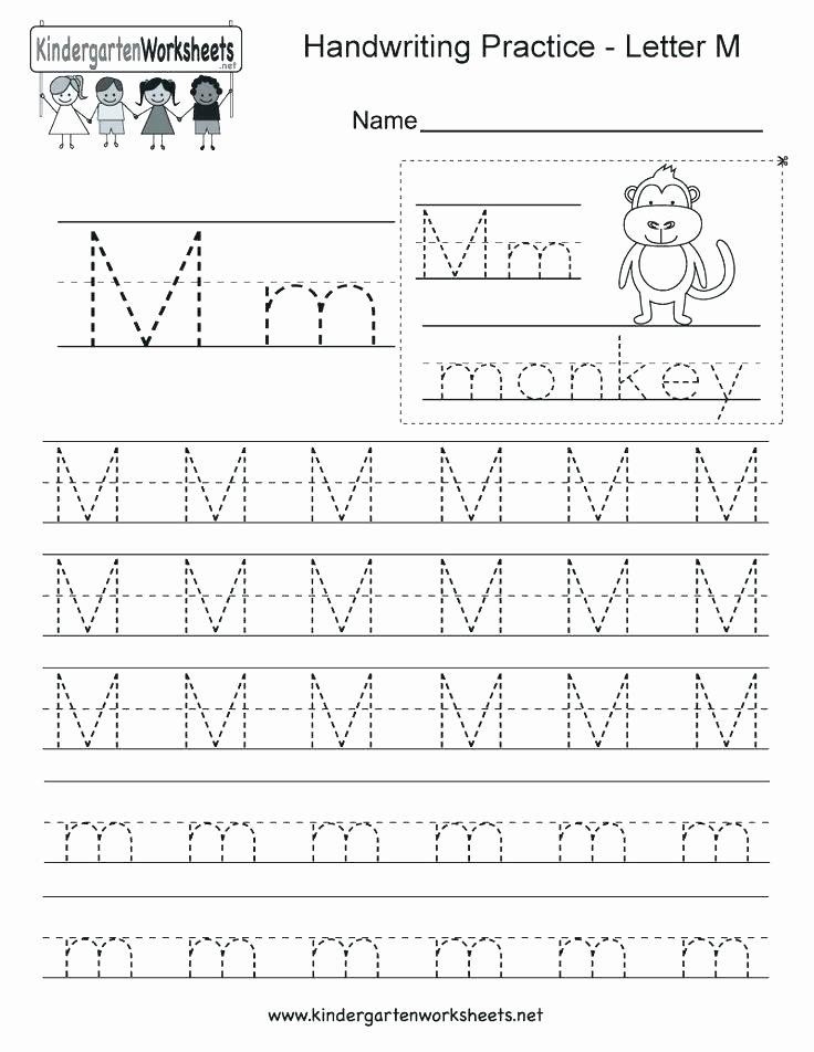 The Letter M Worksheet Kindergarten Alphabet Worksheets