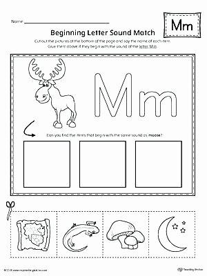 The Letter M Worksheet Learning Alphabet sounds Worksheets
