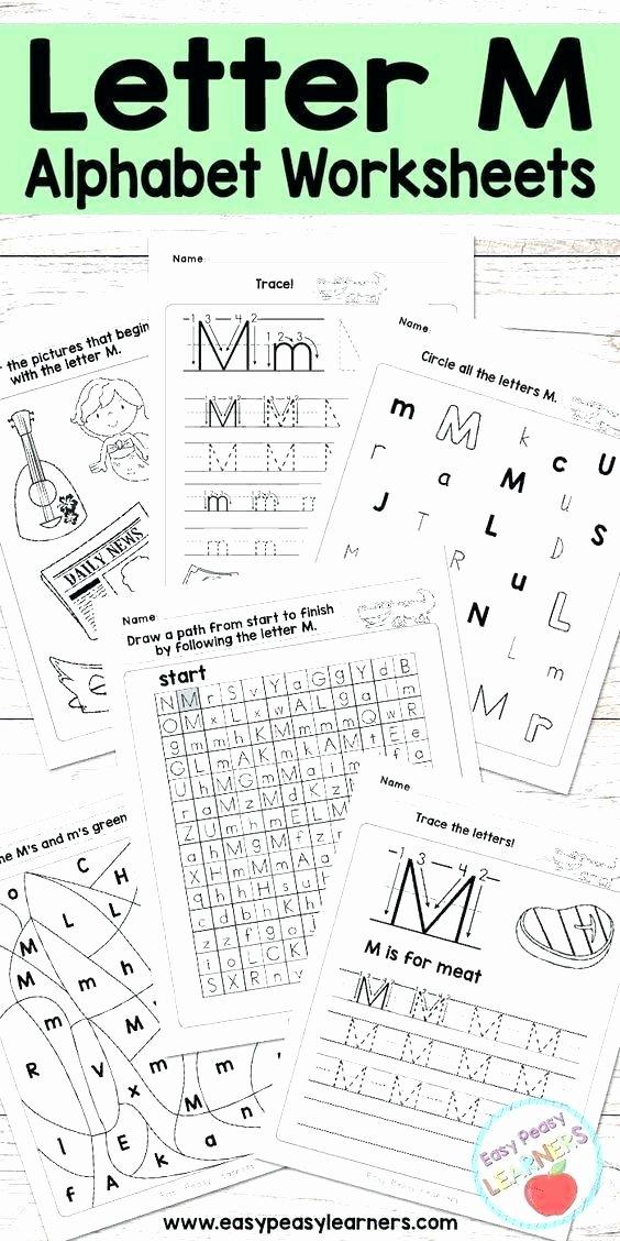 The Letter M Worksheet Preschool Alphabet Worksheets Free Printables