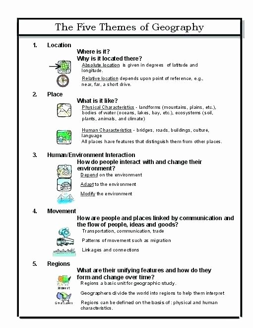 Theme Worksheet 5 Geography Worksheets 3rd Grade – Primalvape
