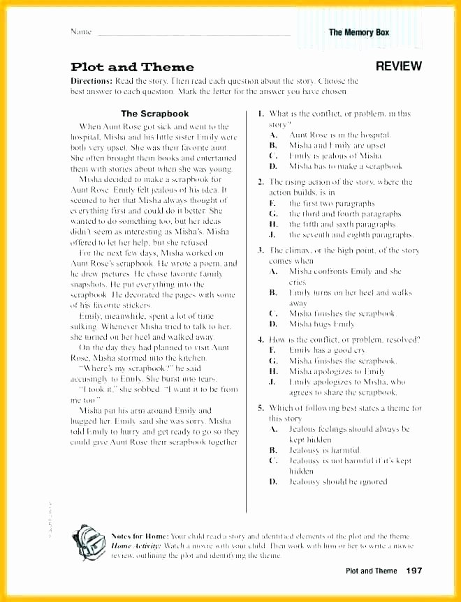 Theme Worksheet Grade 4 Finding theme Worksheet Story Elements Worksheets Plot