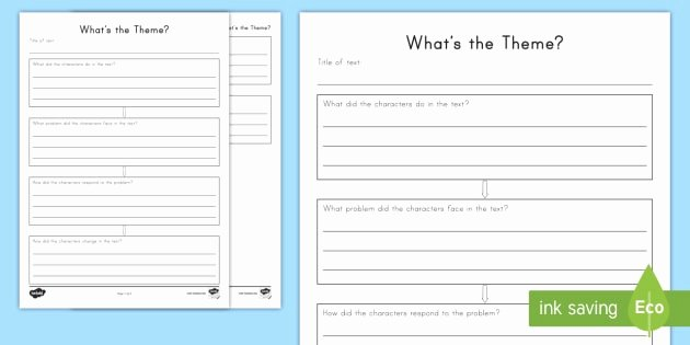 Theme Worksheet Grade 4 What S the theme Worksheet Worksheet theme Fables