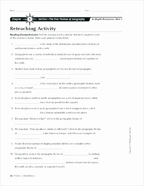 Theme Worksheet Middle School Geography Worksheet Reading Maps Worksheets World Vocabulary