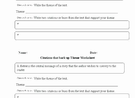 Theme Worksheet Middle School theme Worksheets High School Story Plot Grade and Short
