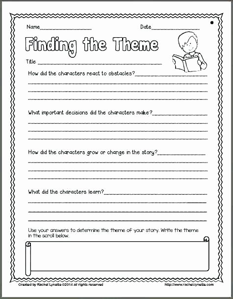 Theme Worksheets 5th Grade theme Worksheets Grade Plot and Metric Setting Worksheets