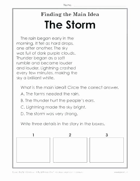 Theme Worksheets 5th Grade Worksheets for Teaching theme Activities Identifying