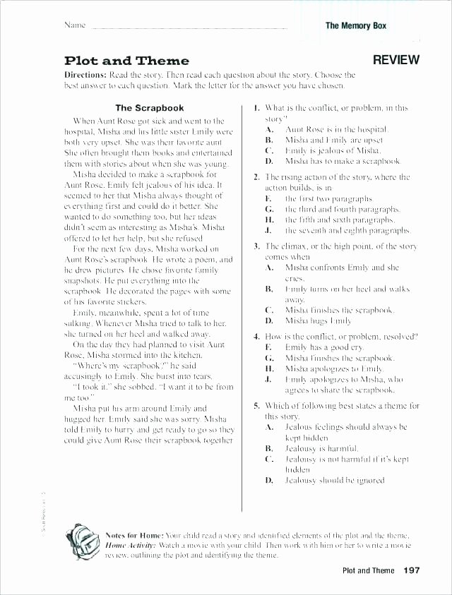 Theme Worksheets for Middle School Mood Worksheets 5th Grade