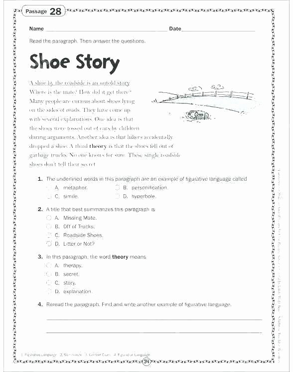 Theme Worksheets for Middle School theme In Poetry Worksheets