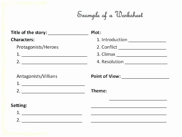 Theme Worksheets for Middle School theme Worksheet Best Ideas About Teaching themes Plot and